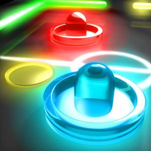 تنزيل لعبة الهوكي Glow Hockey للأندرويد و الايفون بأحدث نسخه من ميديا فاير